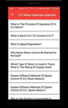 DC Motor Interview Question poster