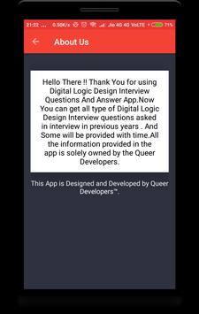 Digital Logic & Design Interview Question apk screenshot