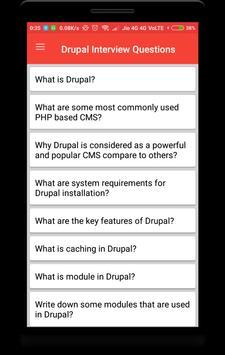 Drupal Interview Question poster
