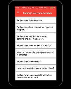 EmberJs Interview Question screenshot 6