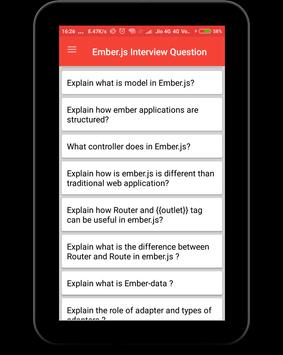 EmberJs Interview Question screenshot 7