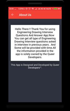 Engineering Drawing Interview Question apk screenshot