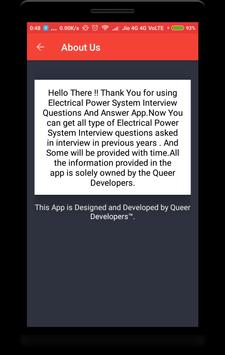 Electrical Power System Interview Question screenshot 7
