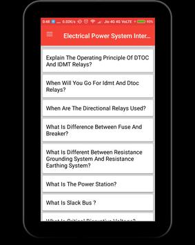Electrical Power System Interview Question screenshot 8