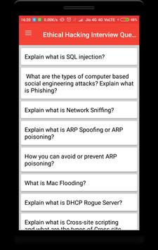 Ethical Hacking Interview Question screenshot 1
