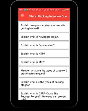 Ethical Hacking Interview Question screenshot 9