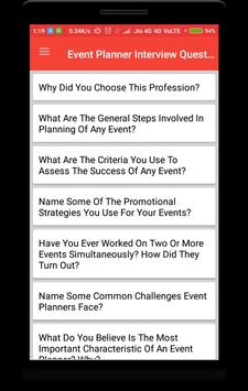 Event Planner Interview Question poster
