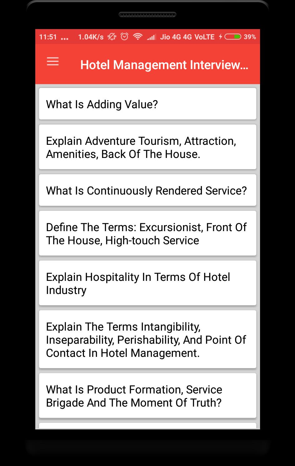 Hotel Management Interview Question for Android - APK Download