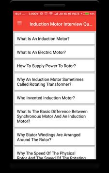 Induction Motor Interview Question poster