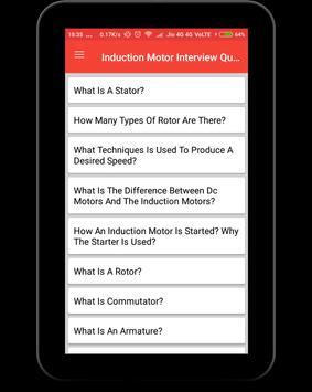 Induction Motor Interview Question screenshot 8