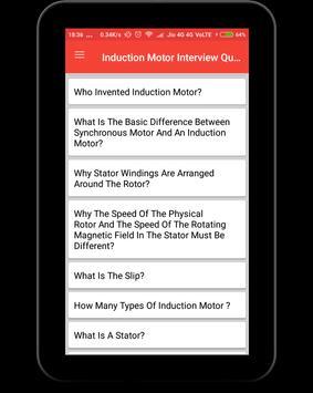 Induction Motor Interview Question screenshot 9