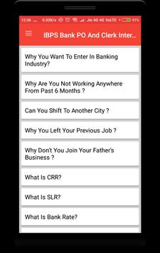 IBPS PO Clerk Interview Question poster