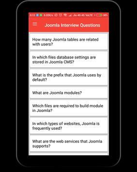 Joomla Interview Questions screenshot 8