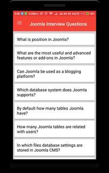 Joomla Interview Questions screenshot 1