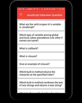 JavaScript Interview Questions apk screenshot