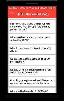 JDBC Interview Questions screenshot 1