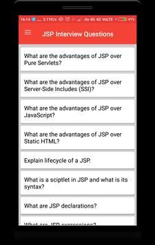 Interview Questions for JSP screenshot 1