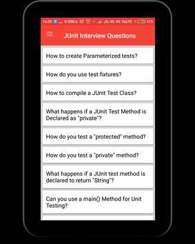JUnit Interview Questions apk screenshot