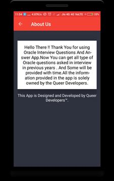 Oracle Interview Questions screenshot 7