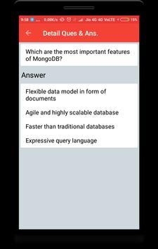 MongoDB Interview Questions apk screenshot
