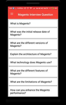 Magento Interview Question poster