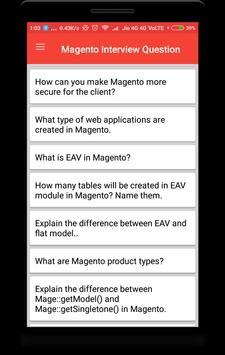 Magento Interview Question apk screenshot