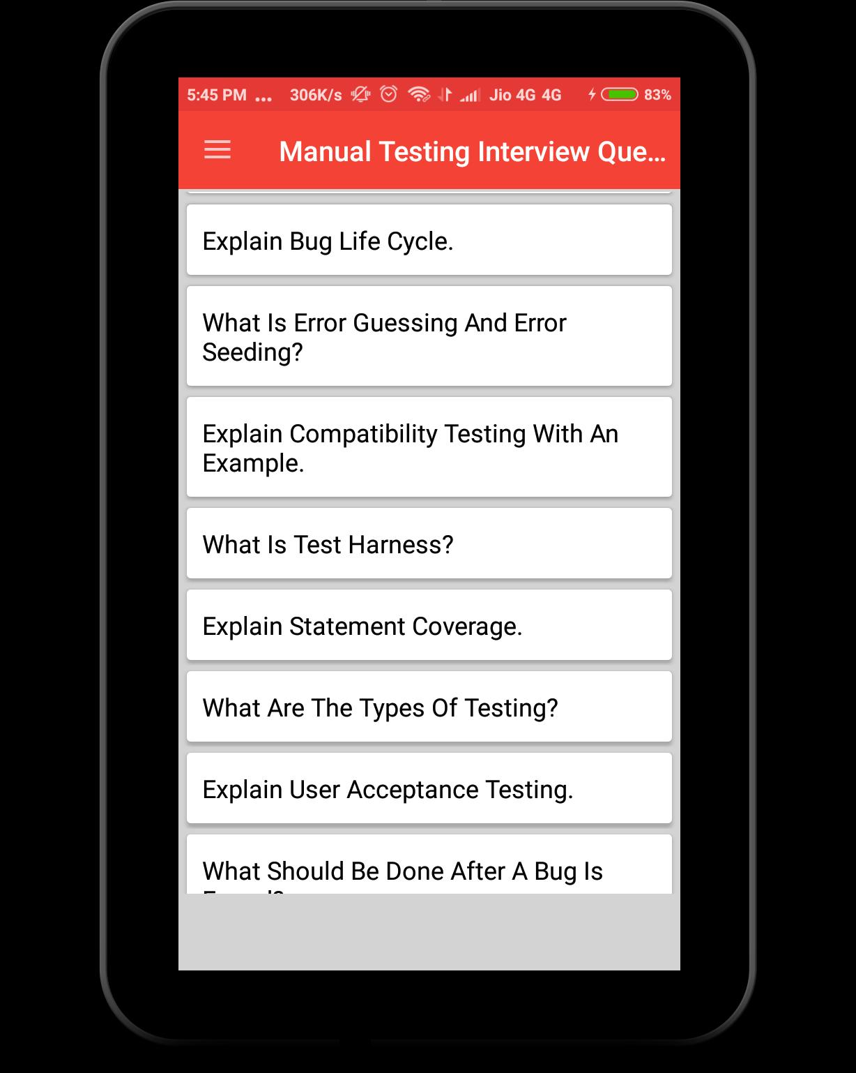 Manual Testing Interview Question for Android - APK Download