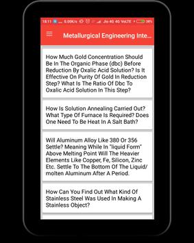 Metallurgical Engineering Interview Question screenshot 9