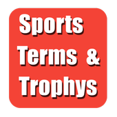 Sports Terms and Trophy icon