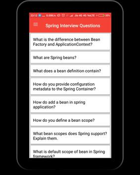 Spring Interview Questions apk screenshot
