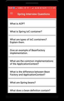 Spring Interview Questions screenshot 1