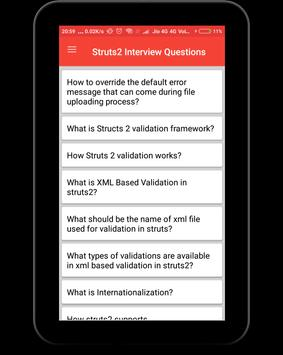 Struts Interview Questions screenshot 10