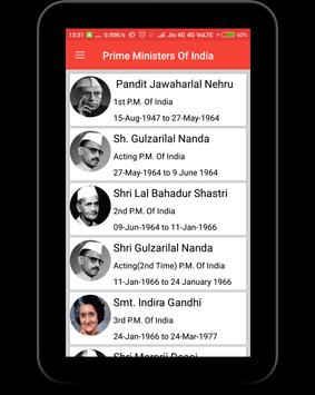 Prime Ministers of India screenshot 8