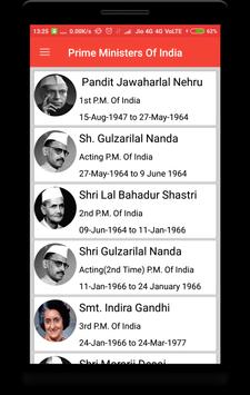 Prime Ministers of India poster