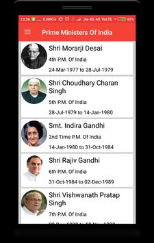 Prime Ministers of India screenshot 1