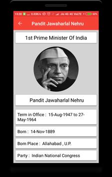 Prime Ministers of India screenshot 3