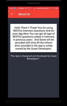 RESTful Interview Questions apk screenshot
