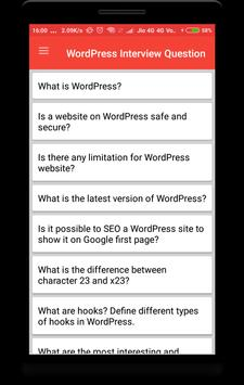 WordPress Interview Question poster