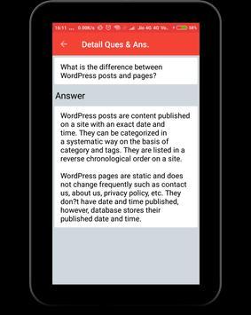 WordPress Interview Question screenshot 11