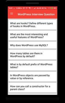 WordPress Interview Question screenshot 1