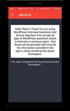 WordPress Interview Question screenshot 7