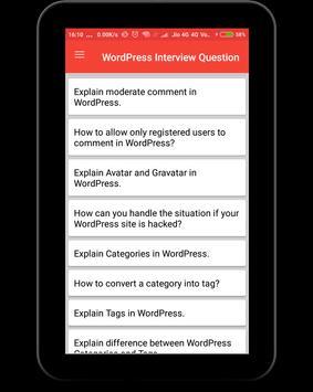 WordPress Interview Question screenshot 9