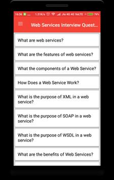 Web Services Interview Questions poster