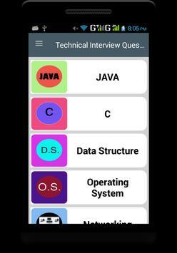 Technical Interview Q&A poster