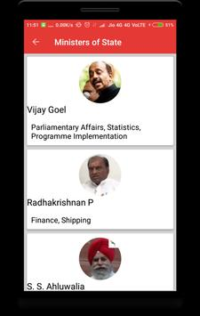 Union Ministers of India screenshot 3