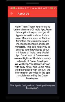 Union Ministers of India screenshot 6