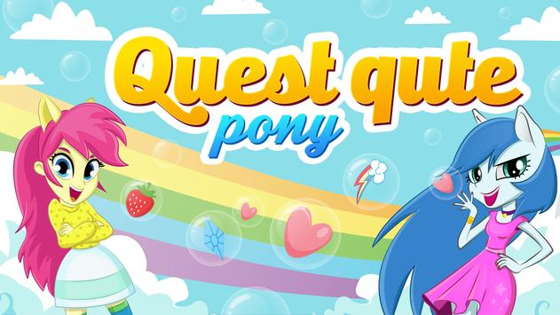 Quest cute pony poster