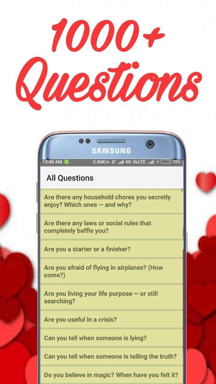 A questions crush ask to 100 questions