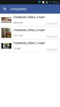 Quick Facebook Video Download apk screenshot