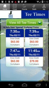 Crow Creek Golf Tee Times poster